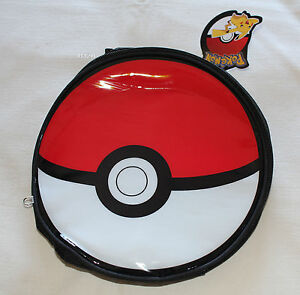 Pokemon-Pokeball-Round-Kids-Printed-Insulated-Lunch-Box-Cooler-Bag-New