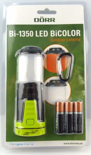 DÖRR Allround Campinglampe Taschenlampe Bi1350 LED Bicolor Outdoor Laterne