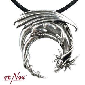 Echt-etNox-Fantasy-Dragon-Drache-Anhaenger-925er-Silber-Gothic-Schmuck-NEU