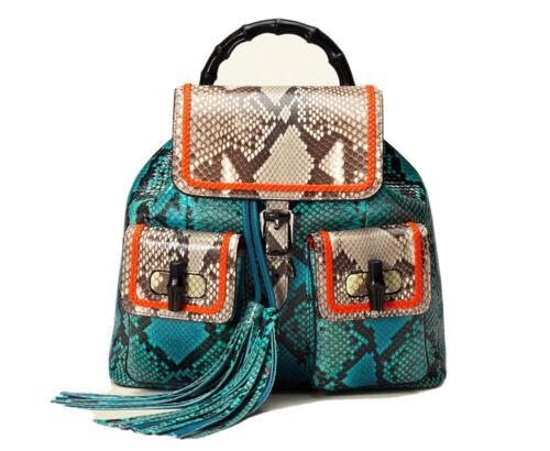Gucci Lady Bamboo Python Backpack - image 1