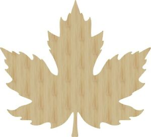 Details about Maple Leaf Laser Cut Out Wood Shape Craft Supply - Woodcraft