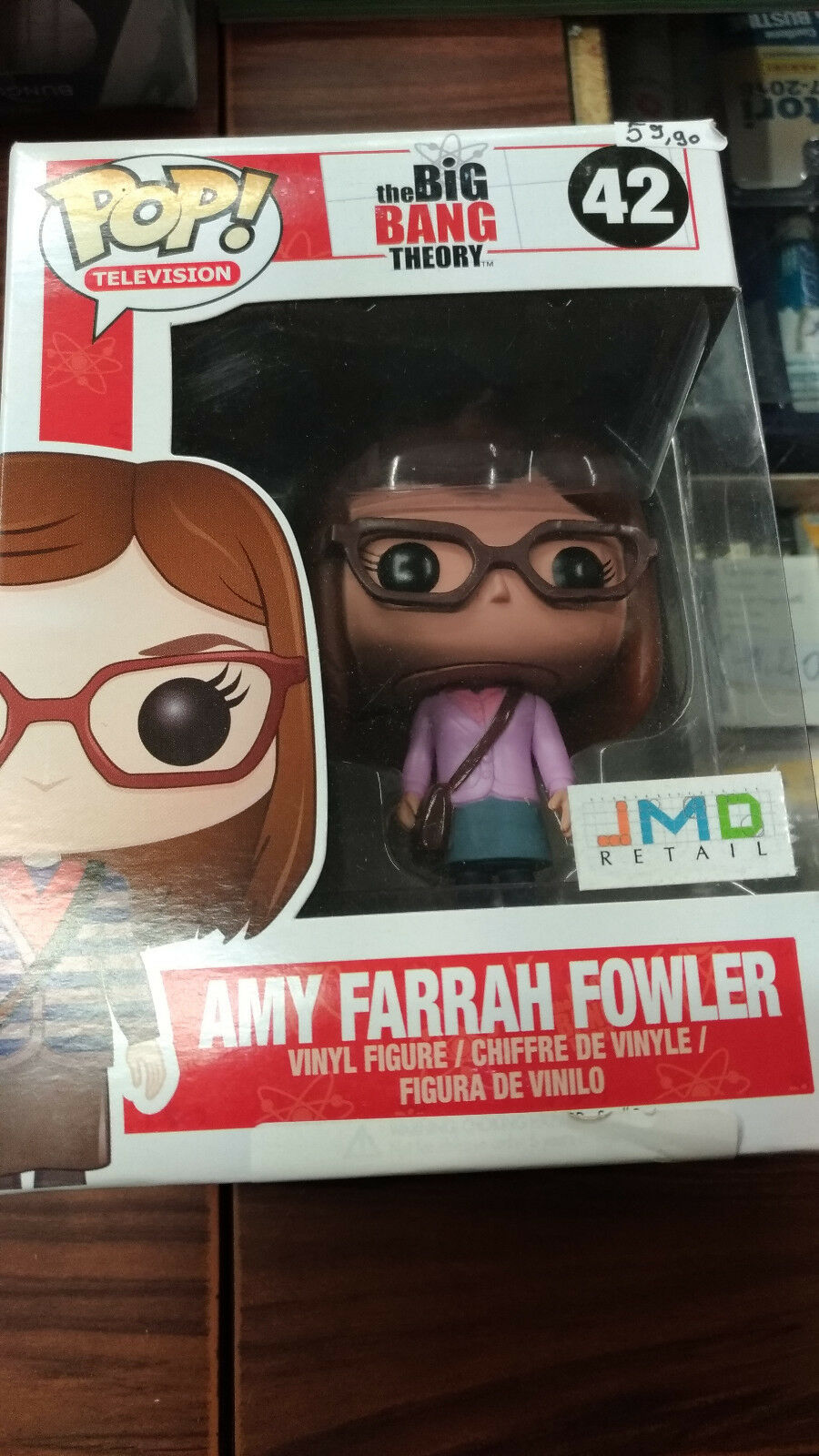 FUNKO - BIG BANG THEORY Amy Farrah Fowler  42 - JMD Retail Exclusive NEW RARE