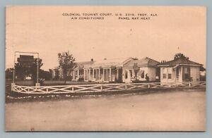 Details about Colonial Tourist Court TROY Alabama Route 231 Vintage  Roadside Motel Postcard 54