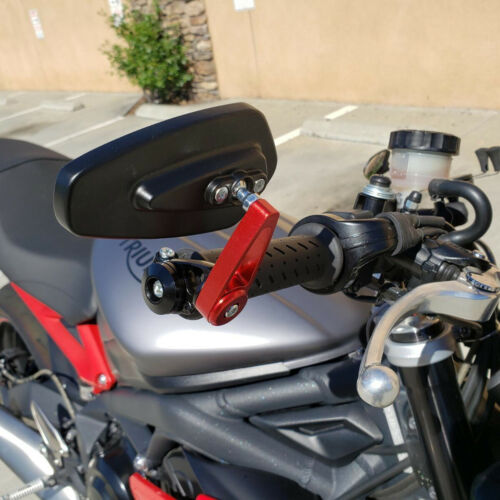 "Red Blue Motorcycle Handlebar End Mirrors 7//8/"" For Kawasaki Z1000 Z900 Z800 Z650"