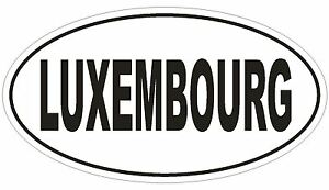 Luxembourg Oval Bumper Sticker or Helmet Sticker D2195 Euro Oval Country Code