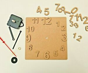 decoupage MDF Circle Wall Clock /& movement 2 sets of numbers incl craft