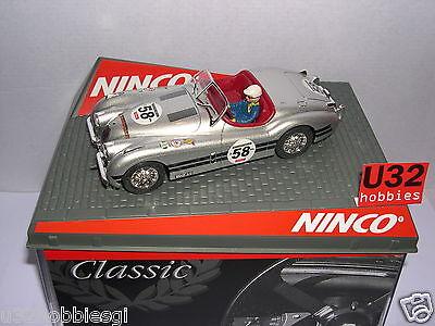 Inventive Qq Ninco 50465 Slot Car Jaguar Xk120 #58 Silber Mb Fragrant In Flavor