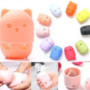 Kitten-Beauty-Powder-Puff-Holder-Sponge-Makeup-Egg-Drying-Case-Portable
