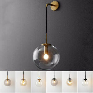 Modern Wall Light Kitchen Bar Wall Lamp Home Glass Wall Sconce Bedroom Lighting Ebay