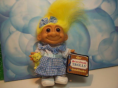 "GOLDILOCKS- 5"" Russ Storybook Troll Doll - NEW STORE STOCK IN ORIGINAL WRAPPER"