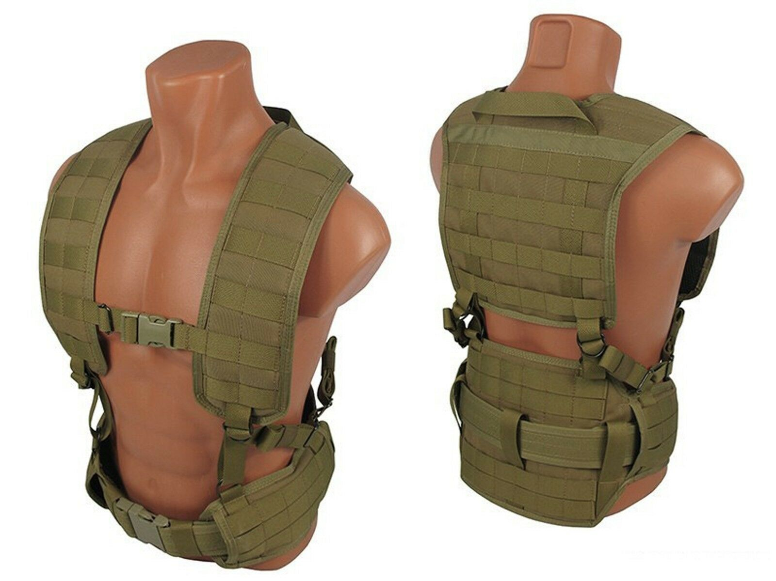 Modular Vest military paintball tactical airsoft chest rig molle coyote Braun Braun coyote e882ec