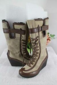 TSUBO  SABIN LACE UP WEDGE BOOTS SIZE 7.5  (1400