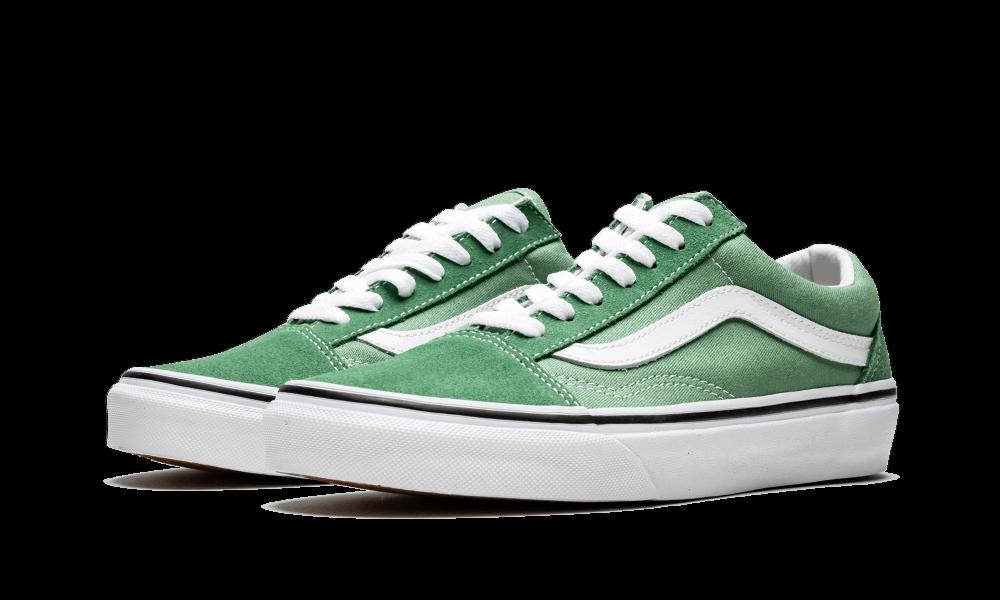 2019 Vans Old Skool  SZ 10 Deep Grass verde bianca VN0A38G1UKV Sautope classeiche da uomo