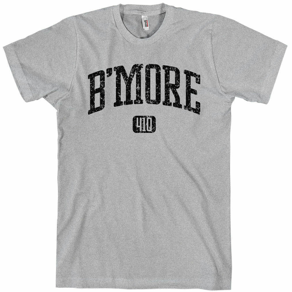 B/'MORE Women/'s T-shirt Area Code 410 Baltimore The Wire S-2XL
