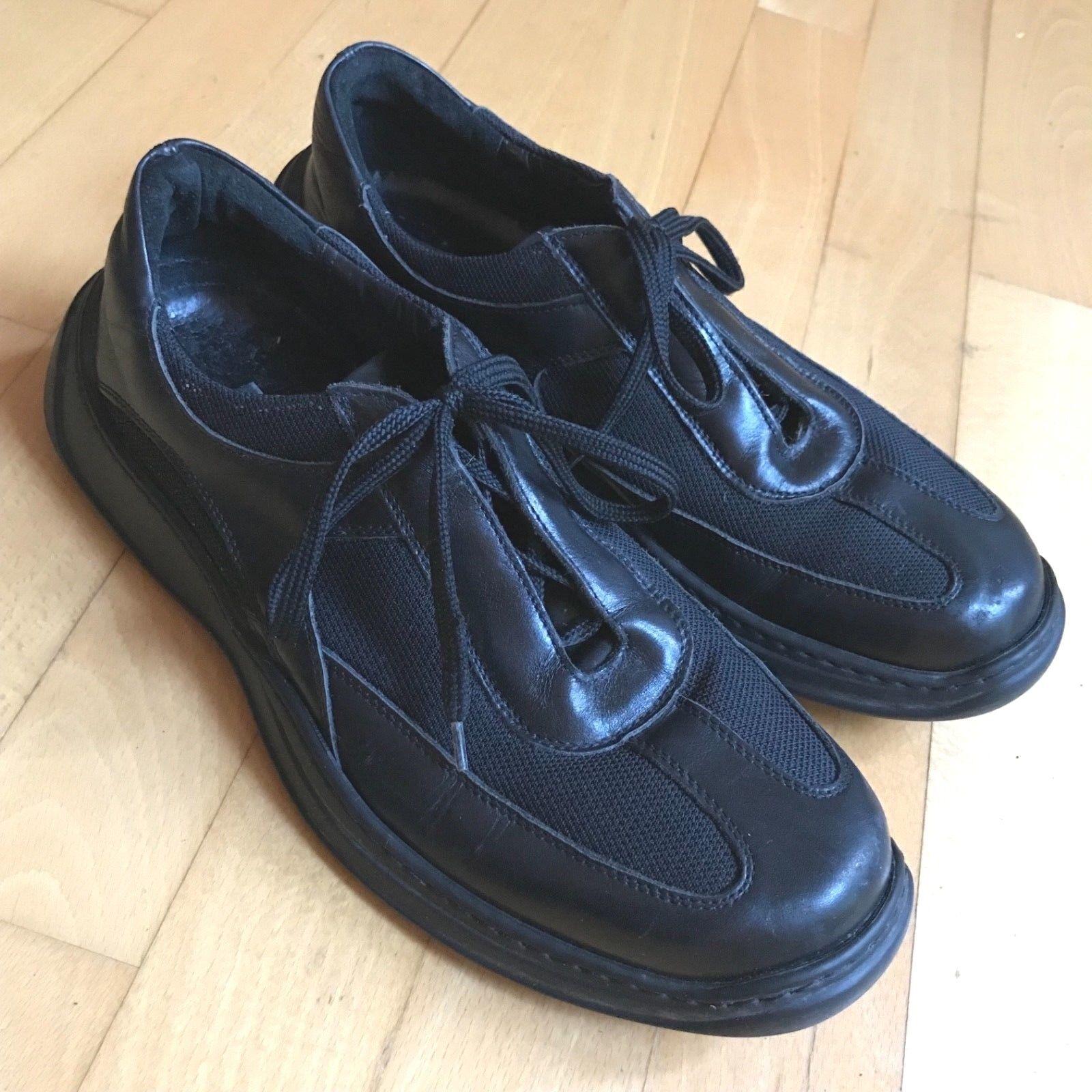 Zapatos de Cuero Barneys New York Suave Hecha en Italia para hombres M suela de goma