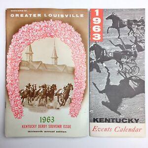 Louisville Events Calendar.Details About 1963 Kentucky Derby Souvenir Issue Event Calendar Lot Vintage Louisville