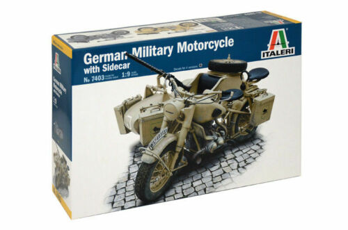 Italeri WWII Dt German Military Motorcycle BMW R72 With Maßstab 1//9 Nr 7403