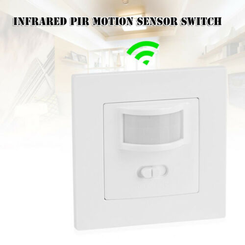 HQ Infrared PIR Motion Sensor Switch PVC Recessed Wall Lamp Bulb Switch On//Off