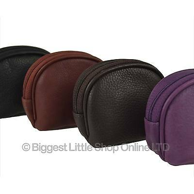 NEW Mens Ladies LEATHER Zipped Coin PURSE/POUCH by Mala Topaz Collection Handy
