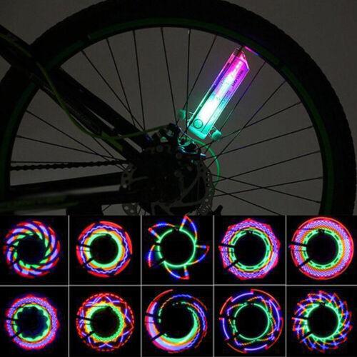32x String Bicycle Cycling Tire Tyre Safe Flash Lights LED Bike Wheel Spoke Lamp