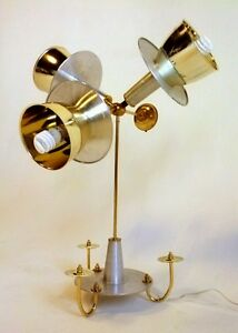 Image Is Loading VINTAGE DANISH ATOMIC UFO SPACE TABLE LAMP 3