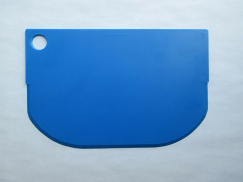 3 New Blue 4x6 inch Plastic Rigid Bench,Food /& Bowl Scraper /& Icing Smoother