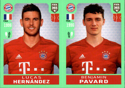 Panini FIFA365 2019 Sticker 427 a//b Pavard // Kimpembe // Varane Champions