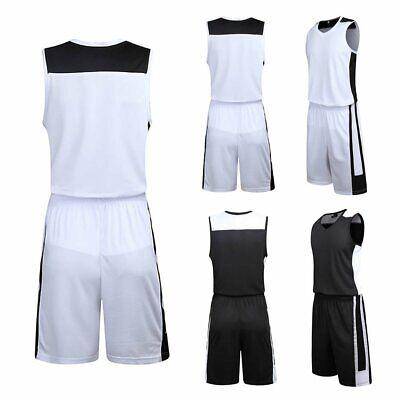 Mens Boys Basketball Suit Training Sportswear Uniform Jersey Vest Shirt Shorts