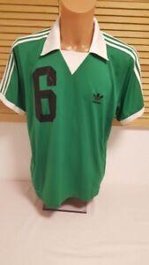 Details zu Deutschland Trikot Retro Vintage Beckenbauer WM adidas Away L (DFB Jersey grün)