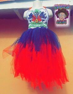 Girls Custom Haitian Flag Pride Tutu Dress Ebay
