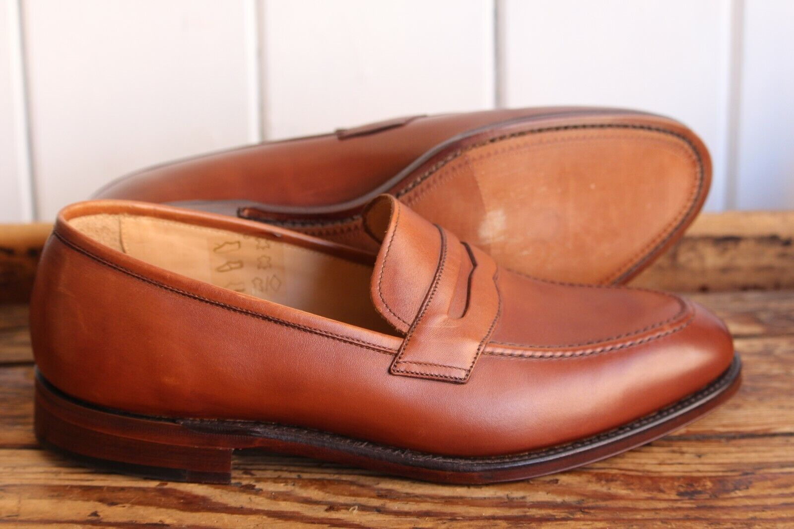 Loake Weißhall 8G in Mahogany - Seconds -   (L539)