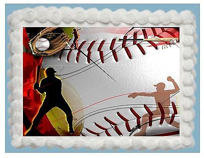 The Cheapest Price Baseball Edible Cake Topper Frosting Sheet Free Shipping Elegant Shape Other Baking Accessories