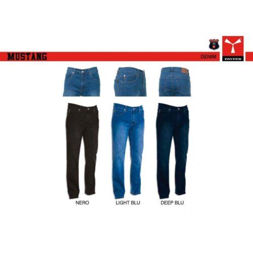 Payper MUSTANG Pantalone Da Uomo Jeans Denim Effetto Consumato Gamba a Tubo