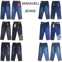 Makaveli Jean Assorted Style, Old School Baggy, Men's Long Denim Jeans,