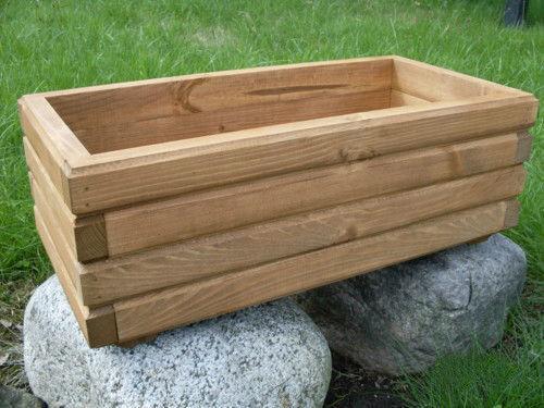 Pflanzkasten Holz Pflanzkübel D2 fertigmontiert Blumenkasten 60 bis 100 cm lang