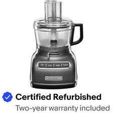 KitchenAid 7 cup Food Processor Exactslice System RR-KFP0722QG Liquid Graphite