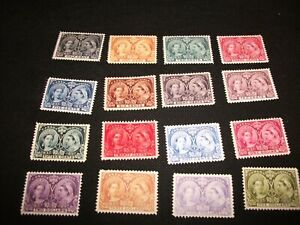 Complete Set Canada 1897 Diamond Jubilee Issue Replica Victoria Stamps Glossy