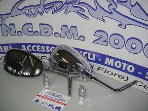 Coppia di specchietti specchi cromati  per MOTO GUZZI California EV 1100 2003