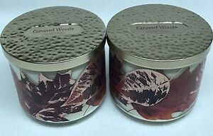 2-Bath-amp-Body-Works-CARAMEL-WOODS-3-Wick-Scented-14-5-oz-Candle