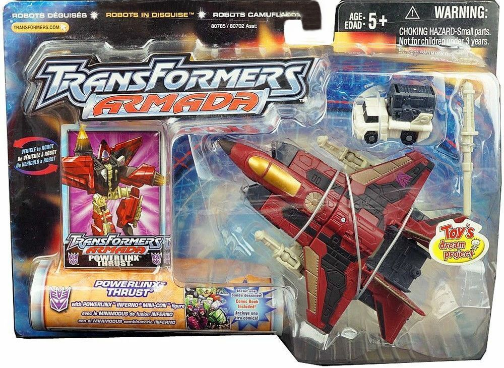 Transformers Armada Powerlinx Exclusive Red Thrust W Inferno New Factory Sealed