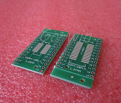 10PCS TSSOP28 SSOP28 to DIP28 0.65/1.27mm pitch adapter transfer board AD9850