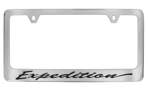 Ford Expedition Script Chrome Plated Metal License Plate Frame Holder