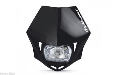 Black Polisport MMX E-Marked Road Legal Headlight Enduro Streetfighter Bandit