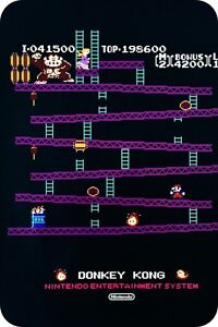 Metal-Sign-034-DONKEY-KONG-034-Nintendo-Arcade-Video-Game-Home-Decor-Wall-Pub-VIntage