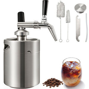 4L-Brew-Nitro-Cold-Brew-Coffee-Maker-Machine-Steel-Keg-Growler-Home-Kegerator