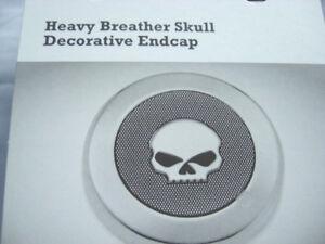 Harley-Davidson-Screamin-Eagle-Skull-Endkappe-Medallion-Luftfilter-28720-10