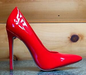 2ef1d2bd95 Alba Ricky Red Patent Pointy Toe Pump Shoe 4.5