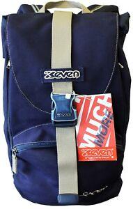 vendita calda online 3b47c 93eb0 Dettagli su Zaino Byte Free SEVEN espandibile con zip laterale Scuola Tempo  libero Vintage
