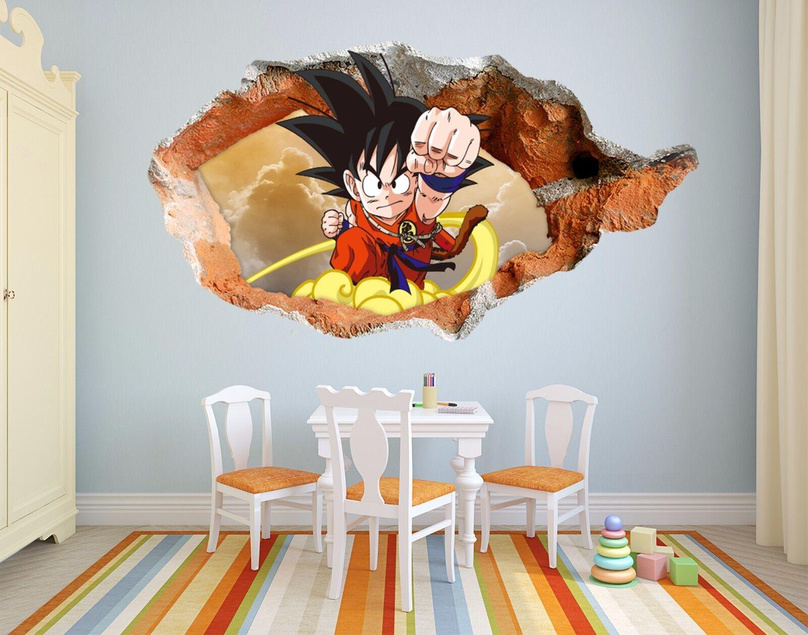 3D Karikatur Goku 7 Mauer Murals Mauer Aufklebe Decal Durchbruch AJ WALLPAPER DE