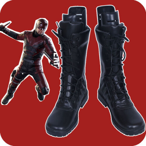 Custom Made Daredevil Matt Cosplay Shoes Boots Black Customize Unisex Shoes